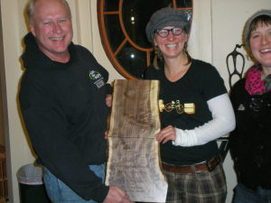 Rick Siewert of Wood From the Hood & Kristy Allen of Beez Kneez with their award plaques