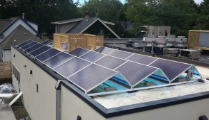Solar Panels on top of the Birchwood Cafe