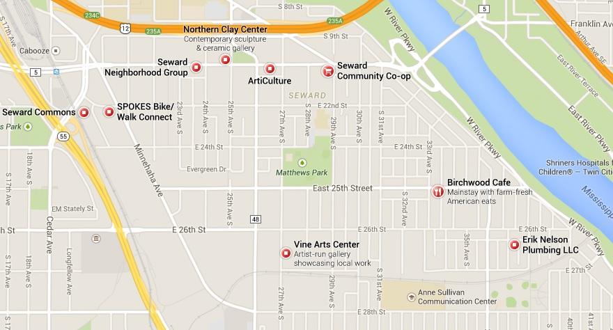 Google map of Seward