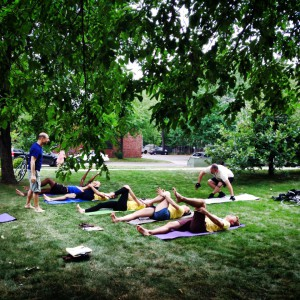 Yoga - a break from the action