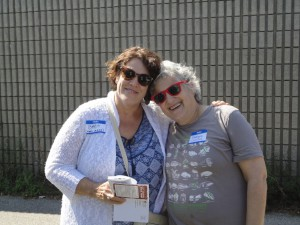 Barbara Shelton (Bab's Casting) and Suzanne Weinstein (Coastal Seafoods)
