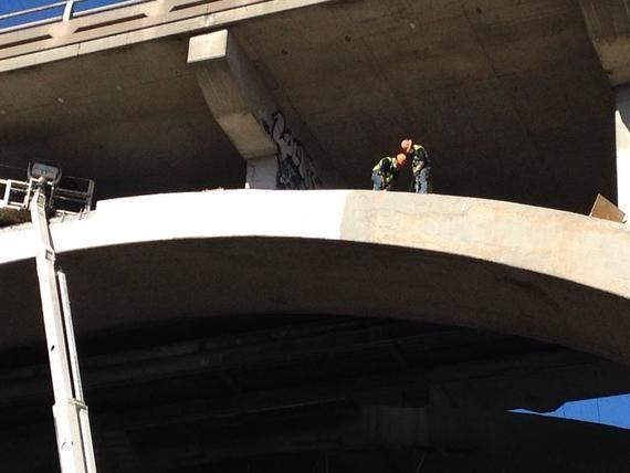 Franklin Bridge span 2 work - Oct 2015